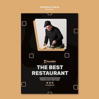 De beste poster-sjabloon voor restaurants