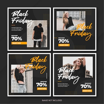 De black friday-campagne instagram-berichtbundelsjabloon