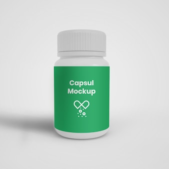 De capsule kan mockup gemakkelijk voor ons maken