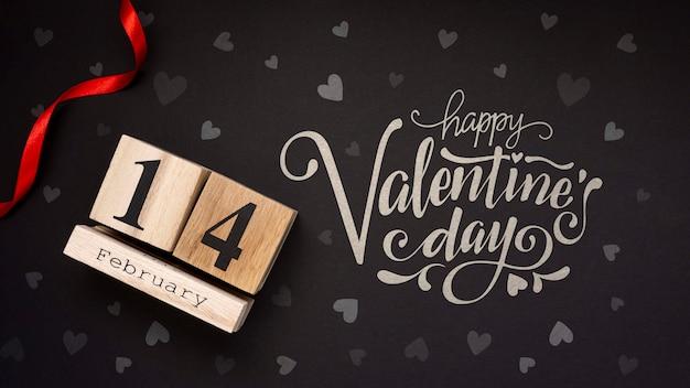 De dagconcept van de mooie gelukkige valentijnskaart