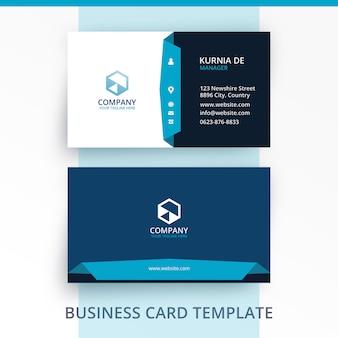 De elegante rijpe blauwe sjabloon van het visitekaartje van de identiteit van het merk