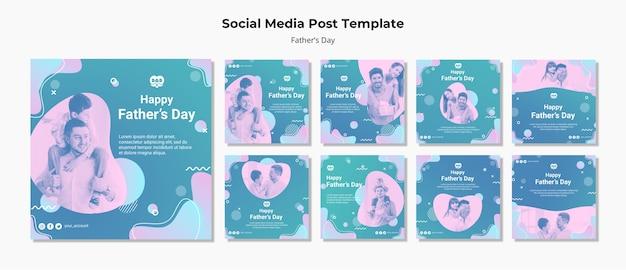 De kleurrijke postinzameling van de vadersdag instagram