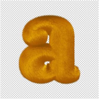 De letters zijn gemaakt van gemberbont. 3d-letter a