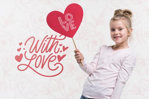 De liefdeconcept van het mooie kind