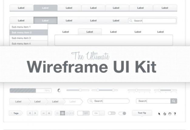 De ltimate wireframe kit