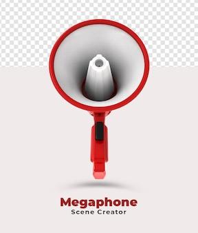 De maker van de megafoonscène