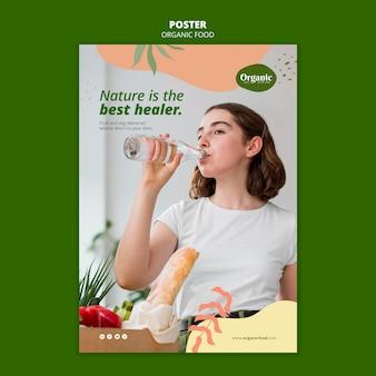 De natuur is de beste poster-sjabloon voor genezer