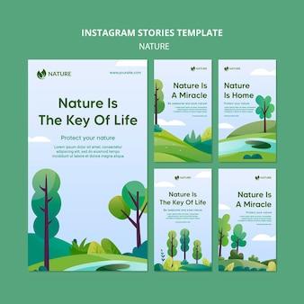 De natuur is de sleutel van instagramverhalen over het leven