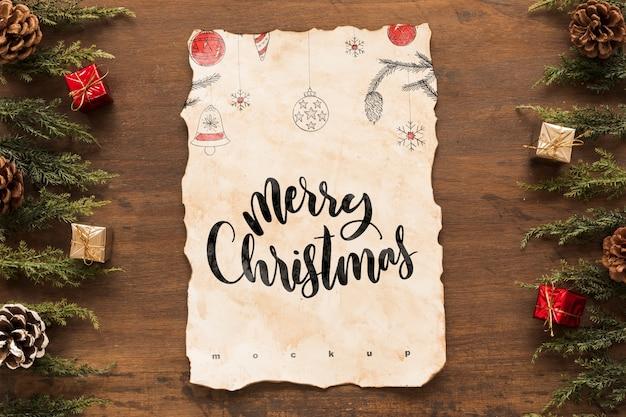 De samenstelling van kerstmis van de hoogste mening met oud document model