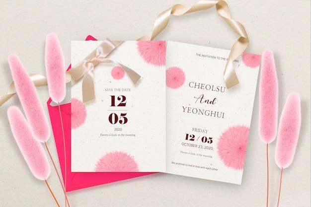 De uitnodiging voor de bruiloft