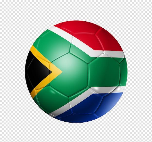 De voetbalbal van het voetbal met de vlag van zuid-afrika