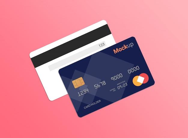 Debetkaart, creditcard, smartcard mockup sjabloon