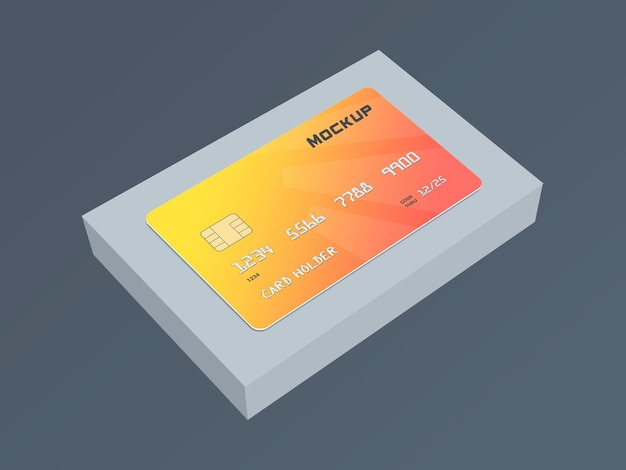 Debetkaart smartcard mockup-sjabloon