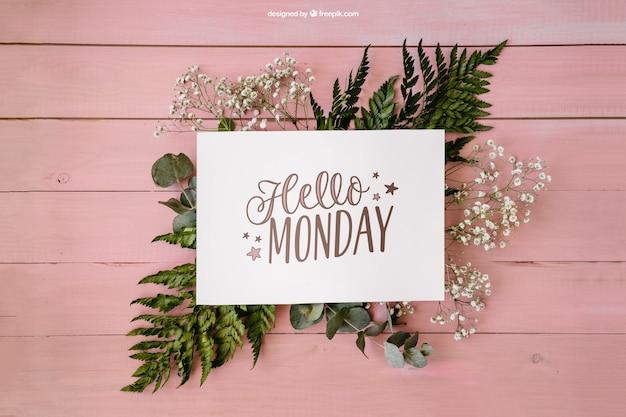 Decoración floral de lunes