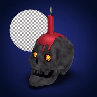 Decoración de halloween representación 3d