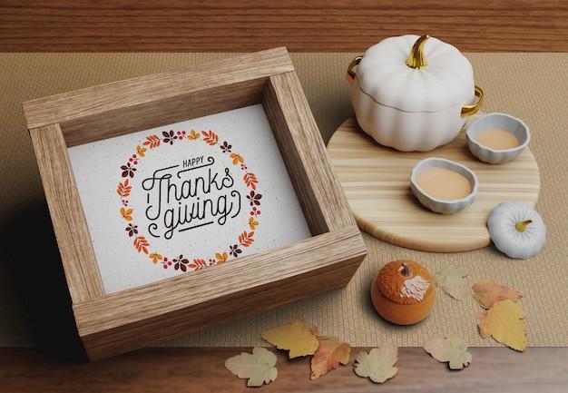 Decoraciones para el día de acción de gracias.