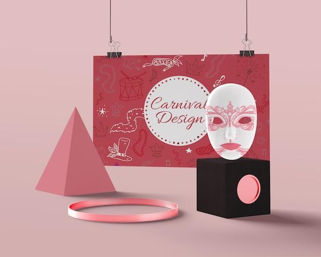 Decoraciones ornamentales simuladas para carnaval