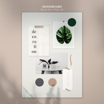 Decoratie mood board poster sjabloon