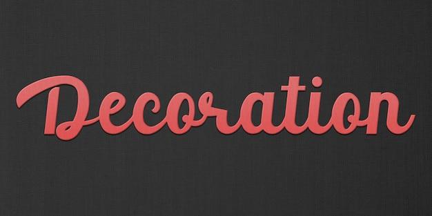 Decoratie tekststijl effect