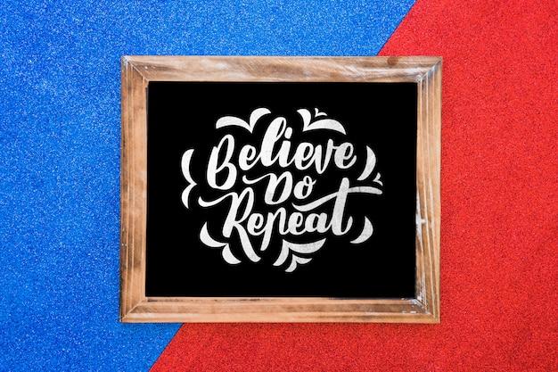 Decoratief frame mockup met citaat concept