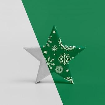 Decoratieve kerstster mock-up