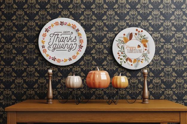 Decoratieve thanksgiving dagopstelling