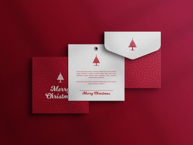 Decoratieve uitnodigingskaart met envelopmodel