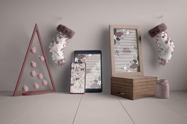 Decorazioni e dispositivi moderni per natale