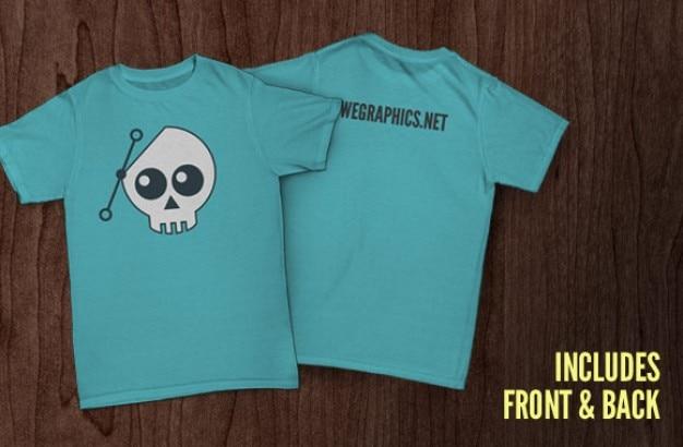 Delante y detrás plantilla t-shirt