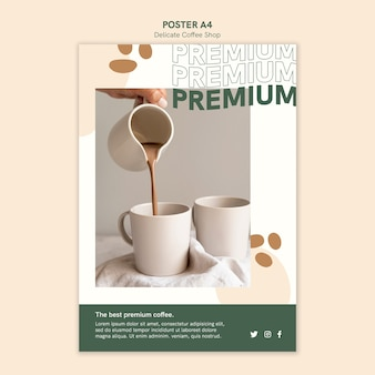 Delicate coffeeshop poster stijl