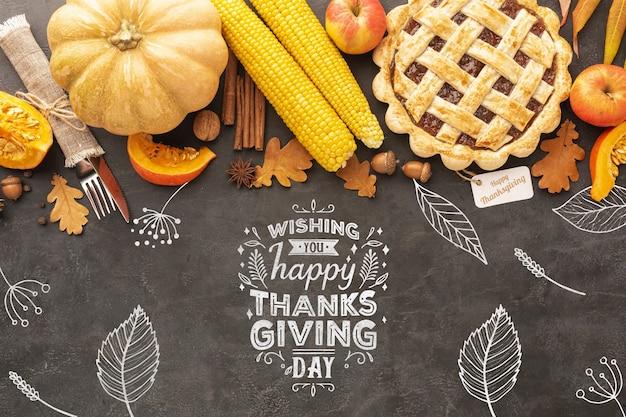 Deliciosa comida en el día de acción de gracias