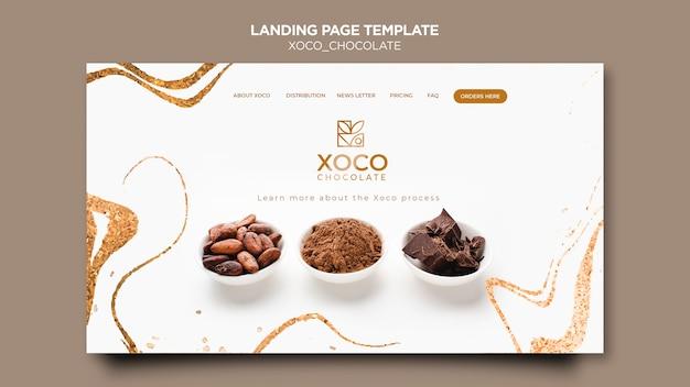 Deliciosa página de aterrizaje de chocolate