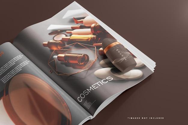 Deodorantfles en tijdschriftmodel