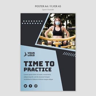 Deporte fuera de diseño de plantilla de póster