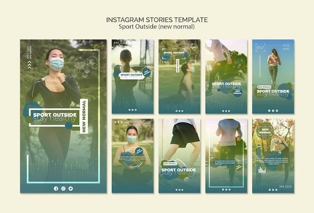 Deporte fuera de las historias de instagram