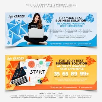Desarrollo web facebook timeline cover banner comercial