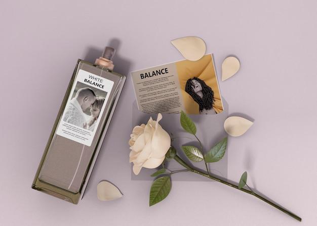 Descripción de la botella de perfume.