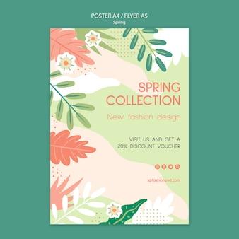 Descuento de flyer de colección de primavera