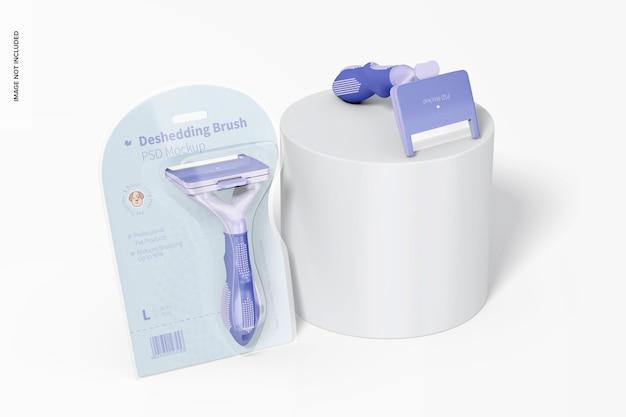 Deshedding borstels verpakking mockup