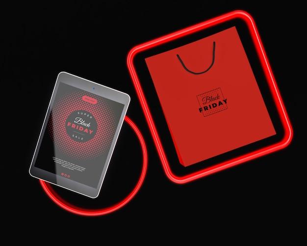 Design al neon per venerdì nero