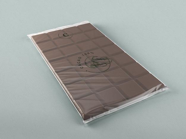 Design avvolgente in plastica al cioccolato