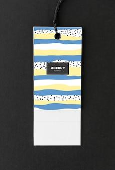Design colorato mockup tag segnalibro