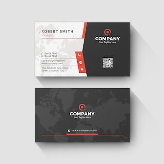 Design creativo modello aziendale biglietto da visita rosso