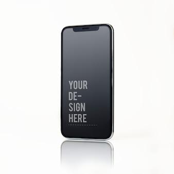 Design de maquete de tela cheia de smartphone