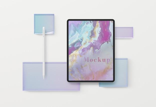 Design del dispositivo tablet con mock-up
