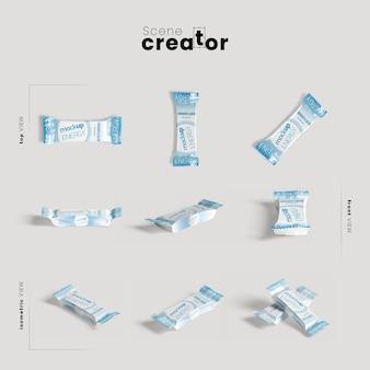 Design del pacchetto per barrette proteiche