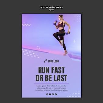 Design del poster concetto di sport