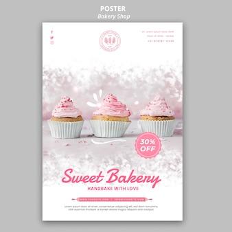 Design del poster del negozio di panetteria