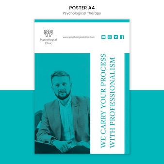 Design del poster di terapia psicologica