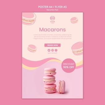 Design del volantino del pacchetto macarons